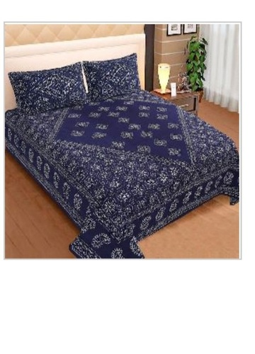 Printed King Size Bedsheet with 2 Pillow Cover