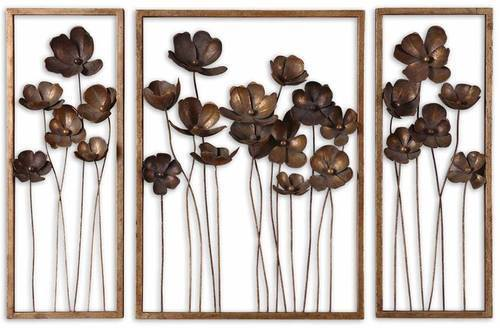 Copper Color Wrought Iron Handicraft Flowers