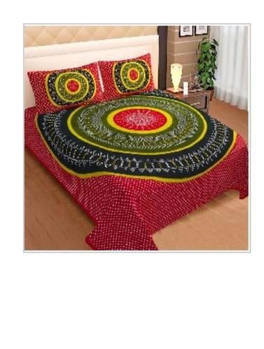 Designer Multicolor Printed King Size Bedsheet