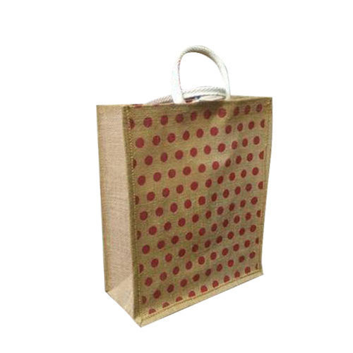 Easy To Carry Printed Jute Shopping Bag