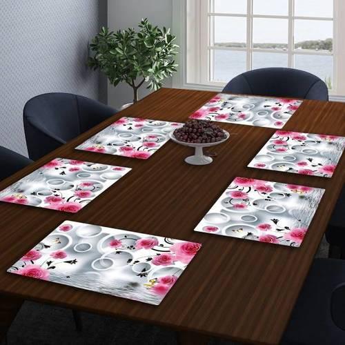 Plastic Printed Rectangular Shape Dinning Table Mat