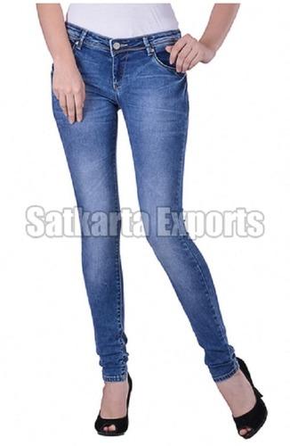 Regular Women Stitched Denim Plain Jeans