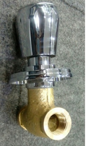 Brass Silver Chrome Plated Shine Concealed Valve