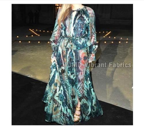 Designer Georgette Digital Printed Gown