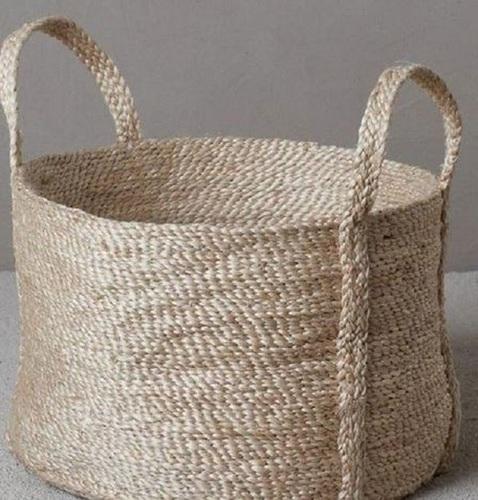Light In Weight Jute Braided Basket