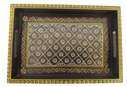 Hand Painted Mango Wood Serving Tray