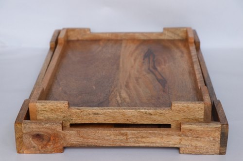 Natural Wooden Serving Trays