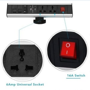 Table Connect Raised Electric Socket Switch (16 A)