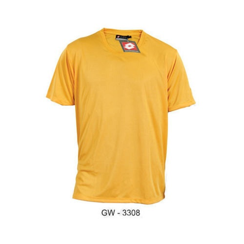 Yellow Plain Casual Wear Pure Cotton Mens T-Shirts