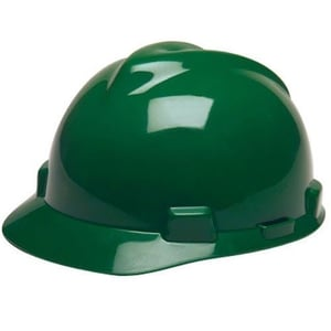 Green Color HDPE Safety Helmet