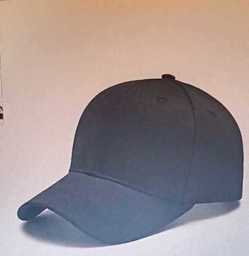 Mens Round Shape Casual Sports Black Cap