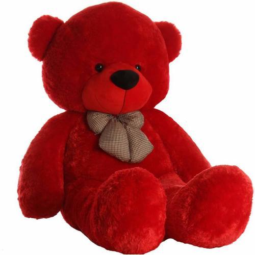 Soft Red Stuffed Teddy Bear Toy