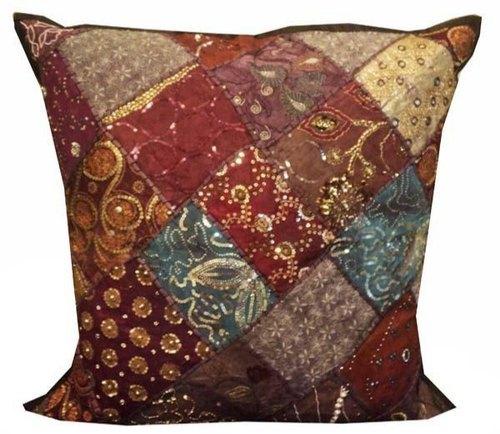 Comfortable Sequin Work Cushion Cover Ari Tari