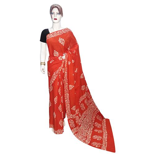 Designer Hand Block Saree