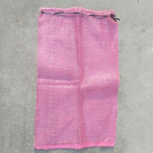 Pink Color Onion Mesh Bag
