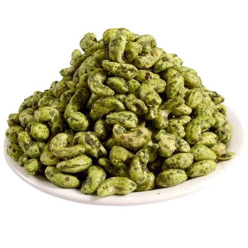 Attentively Sorted Type Pieces Hot And Spicy Green Chilli Flavored Whole Cashew Nuts