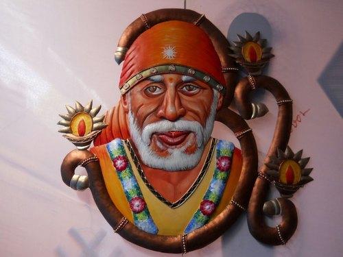 Shri Sai Metal Wall Art Piece