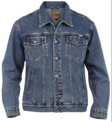 Regular Fit Washed Full Sleeve Blue Denim Jacket