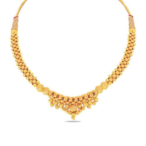 Gold Plated Oxidised Necklace