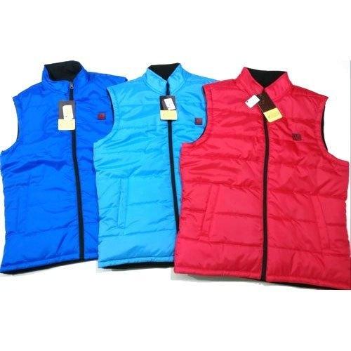 Mens Polyester Zipper Sleeveless Jacket