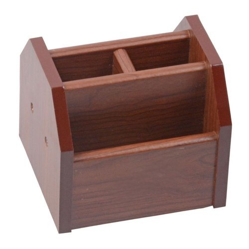 Wooden Rotational Pen Stand With Mobile Stand