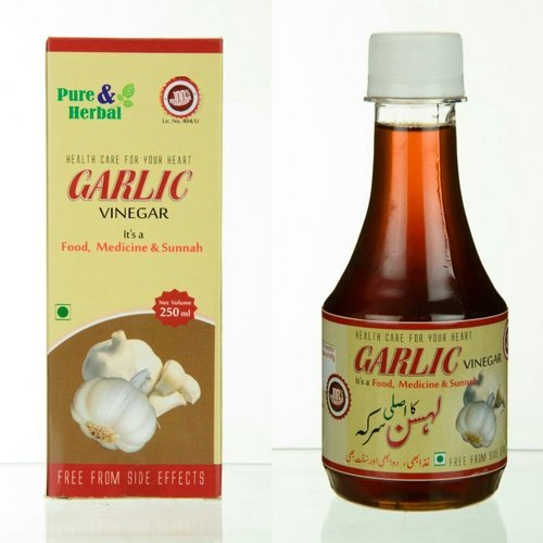 Garlic Vinegar, Natural Color, Pure And Herbal (250 Ml)