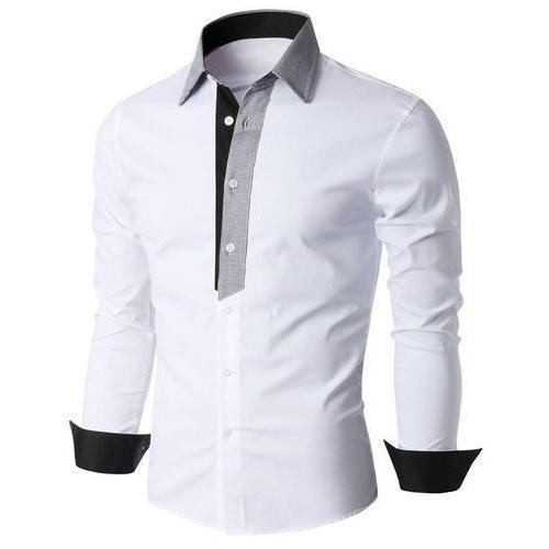 Embroidered Technics Mens Long Sleeve Plain Cotton Shirts (Size L, M, S, Xl)