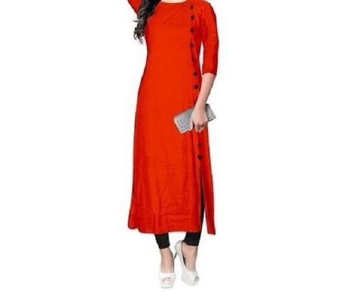 Ladies Plain Cotton Designer Kurti (30-50 Gsm)