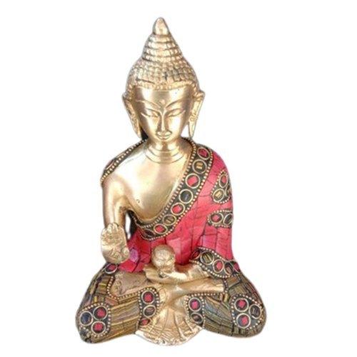 5 Inch 400g Handmade Brass Sitting Buddha Statue