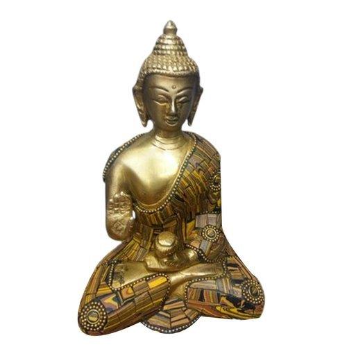 5 Inch 400g Polished Brass Sitting Buddha Statue
