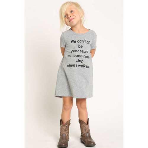 Printed Round Neck Girls T Shirt