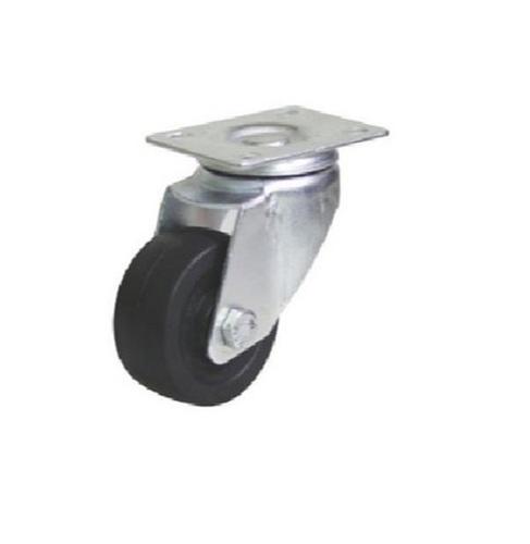 75 MM Black Zinc Plated Swivel Plastic Caster Wheel