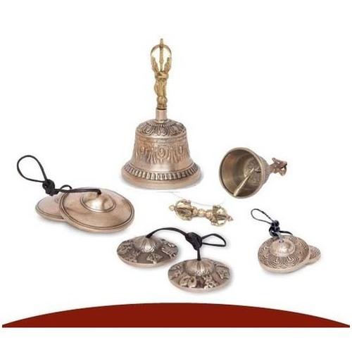 Embossed or Plain Tibetan Tingsha Mediation Bells