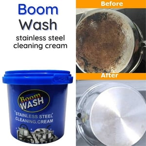 Boom Wash Stainless Steel Cleaning Cream