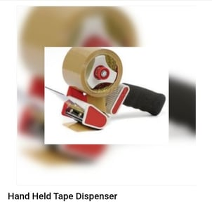 Hand Held Tape Dispenser with Tape Cutter