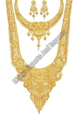 Gold Necklace Set For Ladies, Good Quality, Perfect Shape, Precisely Design, Gold Jewellery