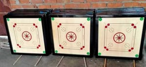 Square And Smooth Flat Wooden Carrom Board
