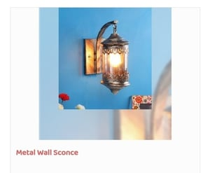 Golden Color Metal Wall Sconce
