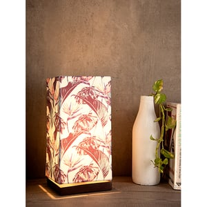 Birds Of Paradise Lamp with Wooden Base