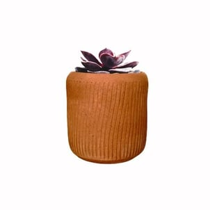 Brown Cylindrical Clawed Terracotta Planter