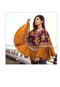 Fancy Colorful Embroidered Ponchos