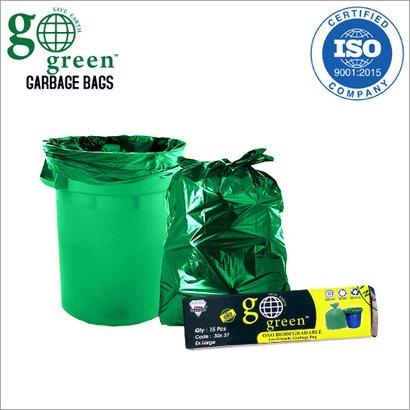 Ex-Large Size Recyclable Green Garbage Bag
