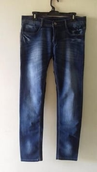 Blue Denim Jeans For Mens, Stretchable, Faded, Slim Fit, High Quality, Casual Wear