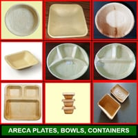 Arecanut Leaf Plates And Bowl For Event And Party Supplies, Biodegradable, Environment Friendly