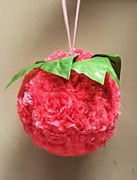 Pink Color Decorative Flower Ball For Party Decoration
