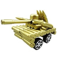 Outstanding Iron Material Made Grey Color Bullet Shell Tank Show Piece