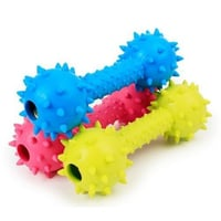 Rubber Dog Dumbbell Toy