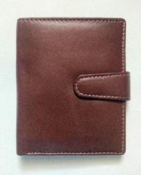 Brown Leather Plain Wallet For Mens, Light In Weight, Well Stitched, Weight : 70 Grams