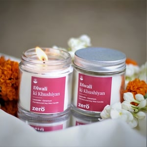 Diwali Vibrance (Lavender Geranium) Scented Soy Wax Candle