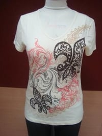 Ladies Printed V Neck T Shirt, Half Sleeve, Beautiful Design, Attractive Look, Neat Stitching